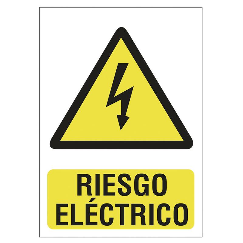 """Señal de peligro """"Riesgo eléctrico"""""""