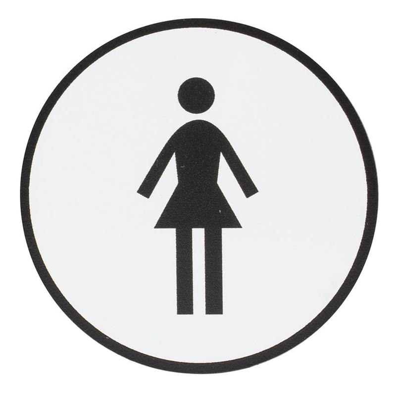"""Señal informativa """"Señoras"""" redonda"""