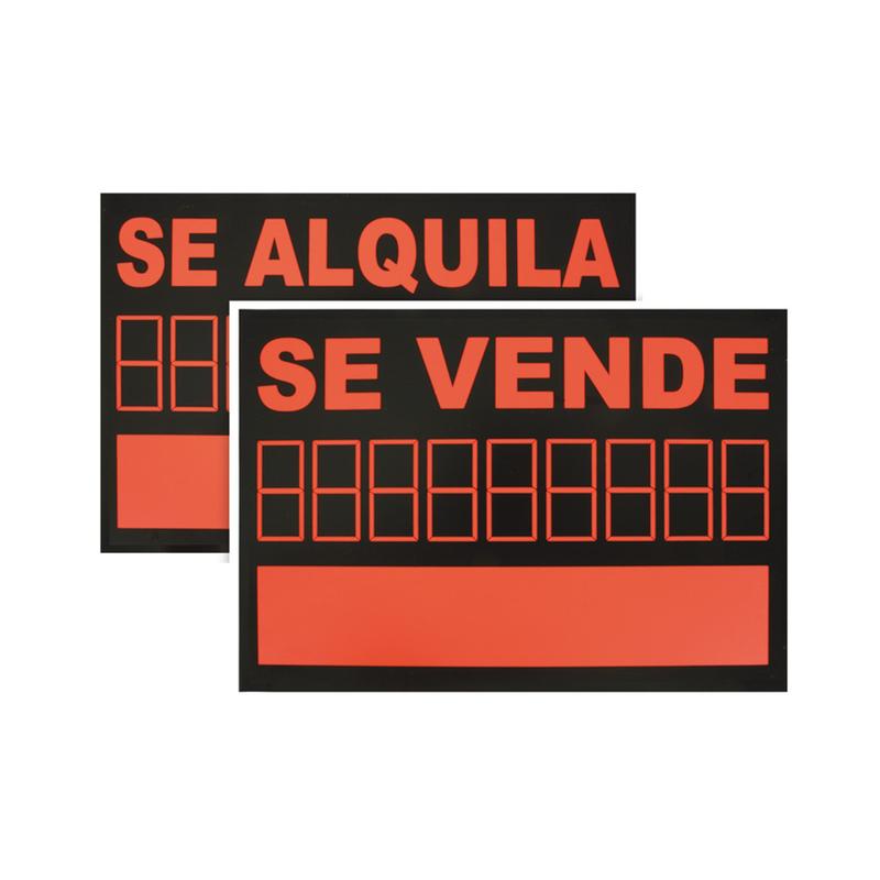 """Señal informativa """"Se vende/se alquila"""""""