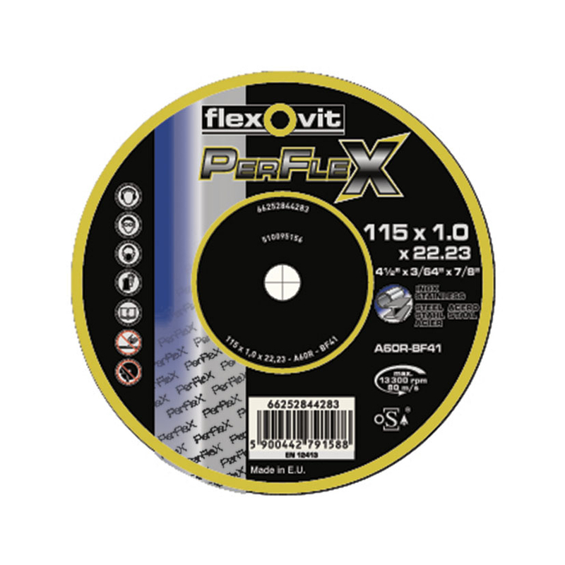 Disco de corte inox/metal FLEXOVIT PerFlex Ø 230 mm