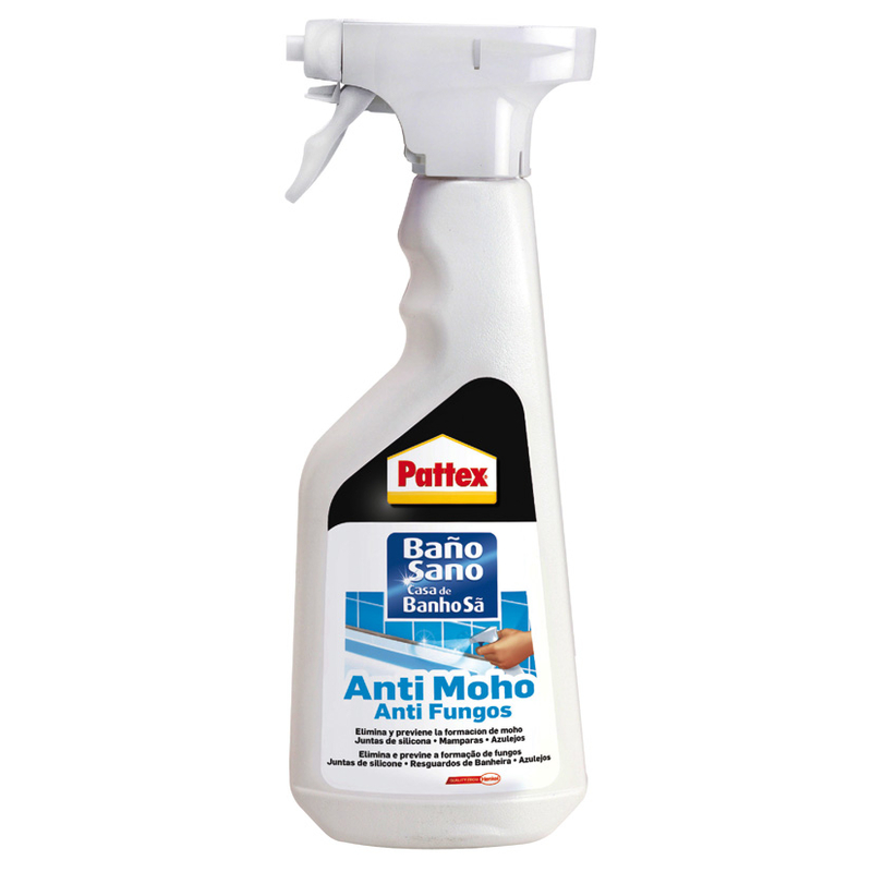 Pattex Spray Antimoho para el saneamiento de superficies propensas al moho, 500ml