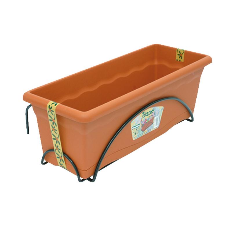 Jardinera de balcón PLASTIKEN 50x20 cm