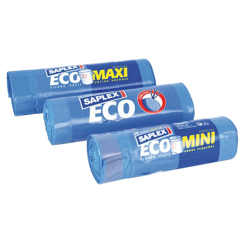 Bolsa basura SAPLEX Eco 55x60 cm