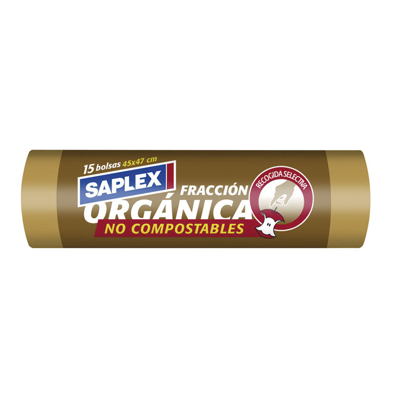Bolsa basura SAPLEX reciclaje 45x47 cm