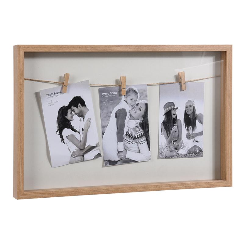 Portafotos marco madera
