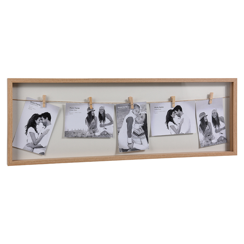 Portafotos marco madera 5 fotos
