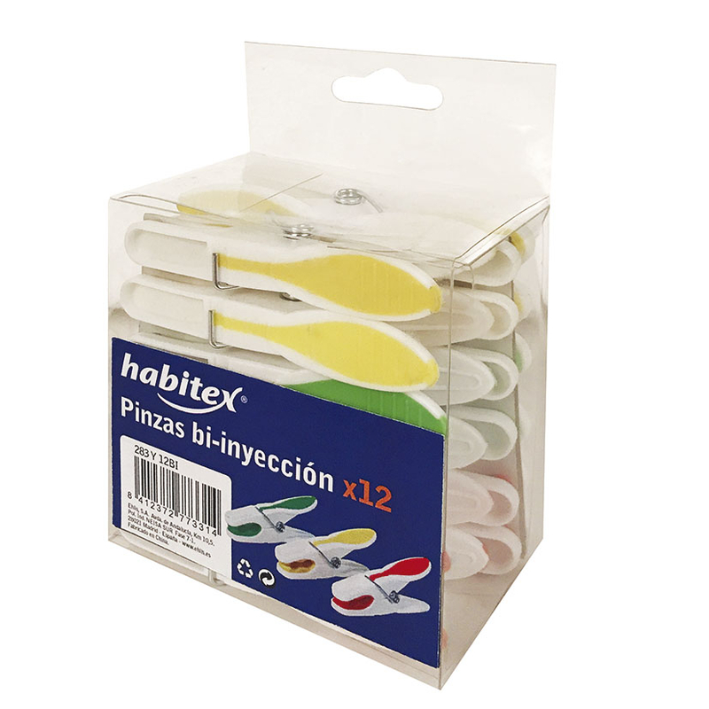 Pinzas de ropa XL HABITEX plástico Bi-inyección
