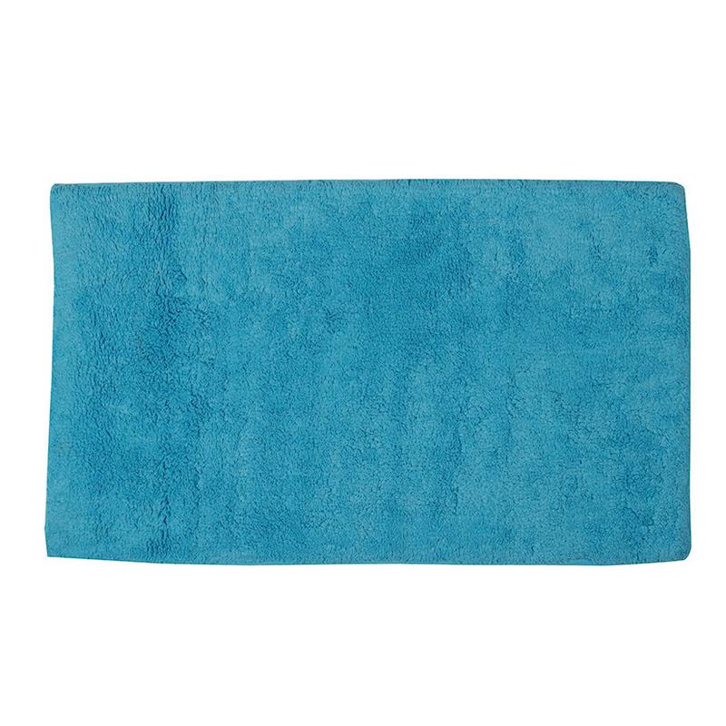 Alfombra baño HABITEX azul turquesa 45x75 cm | Ferreterías