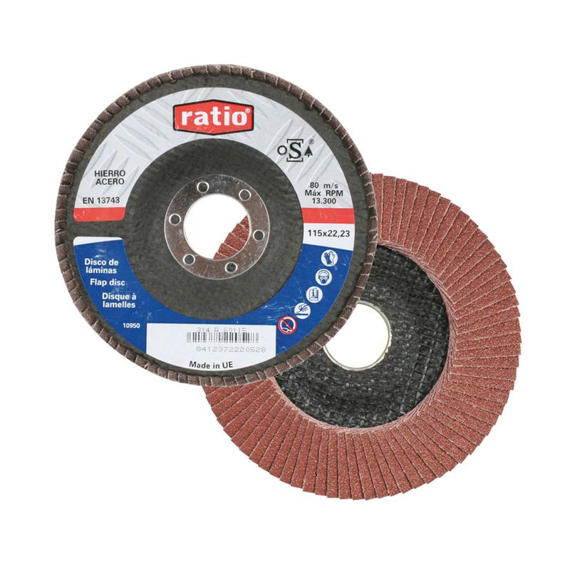 Disco abrasivo de láminas RATIO 115x22 mm. 10 unidades
