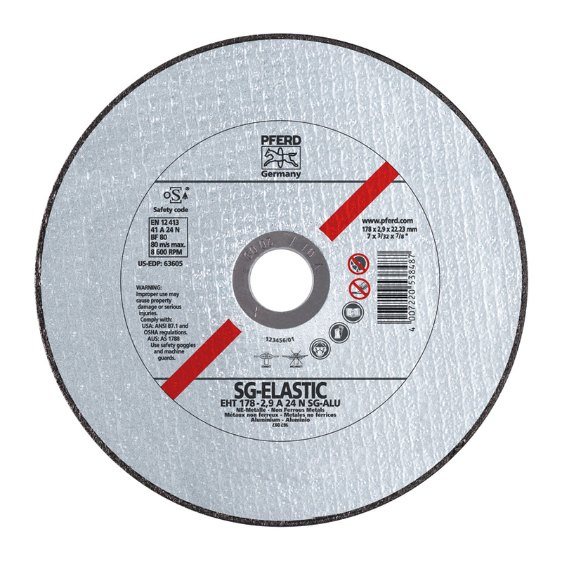 Disco fino de corte de aluminio PFERD EHT