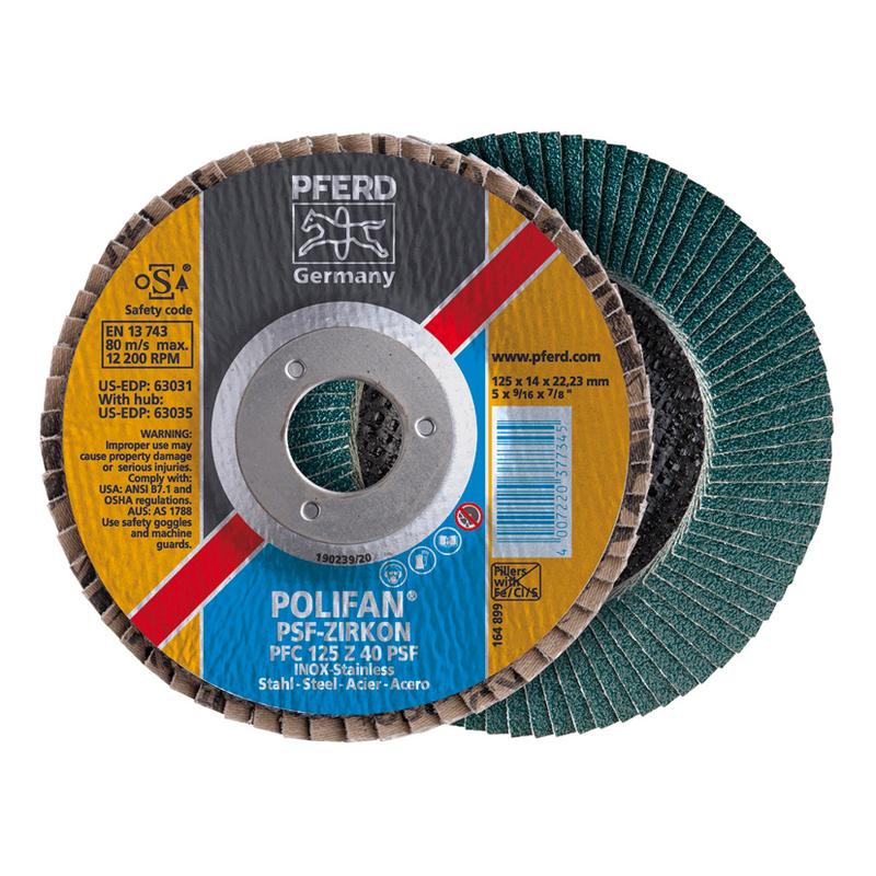 Discos abrasivos de láminas PFERD Polifan Z 115 mm