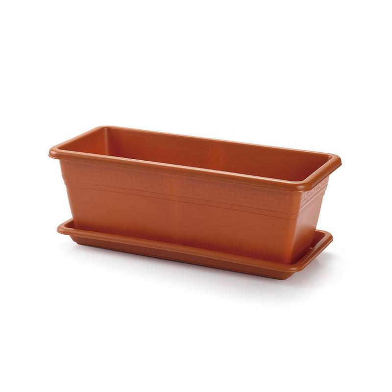 Jardinera imitación terracota con plato