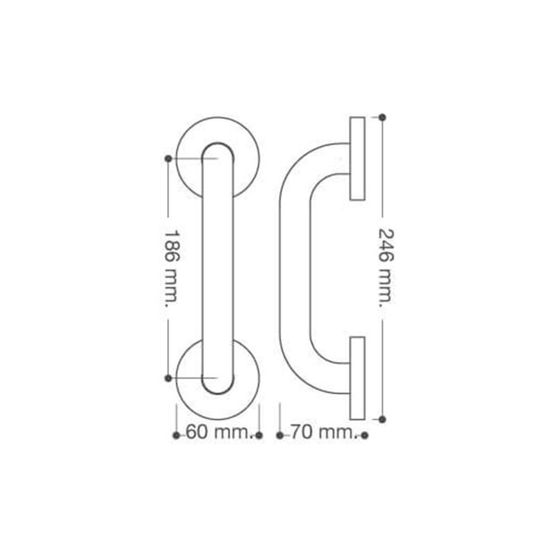 Asa bañera PLASTISAN Nexus 24,6 cm