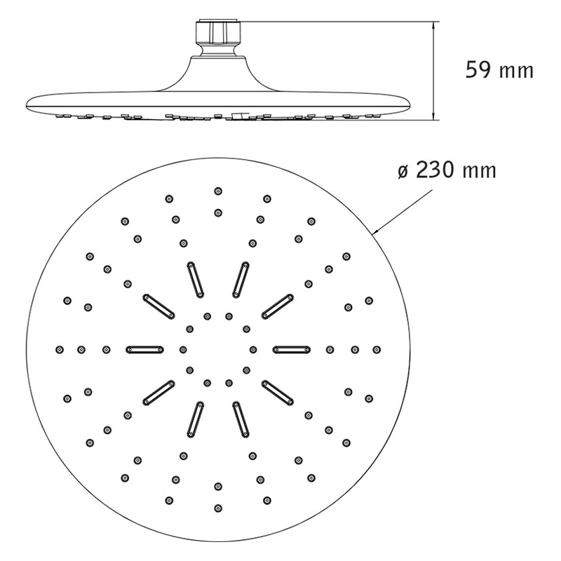 Rociador-difusor para ducha HABITEX Oporto