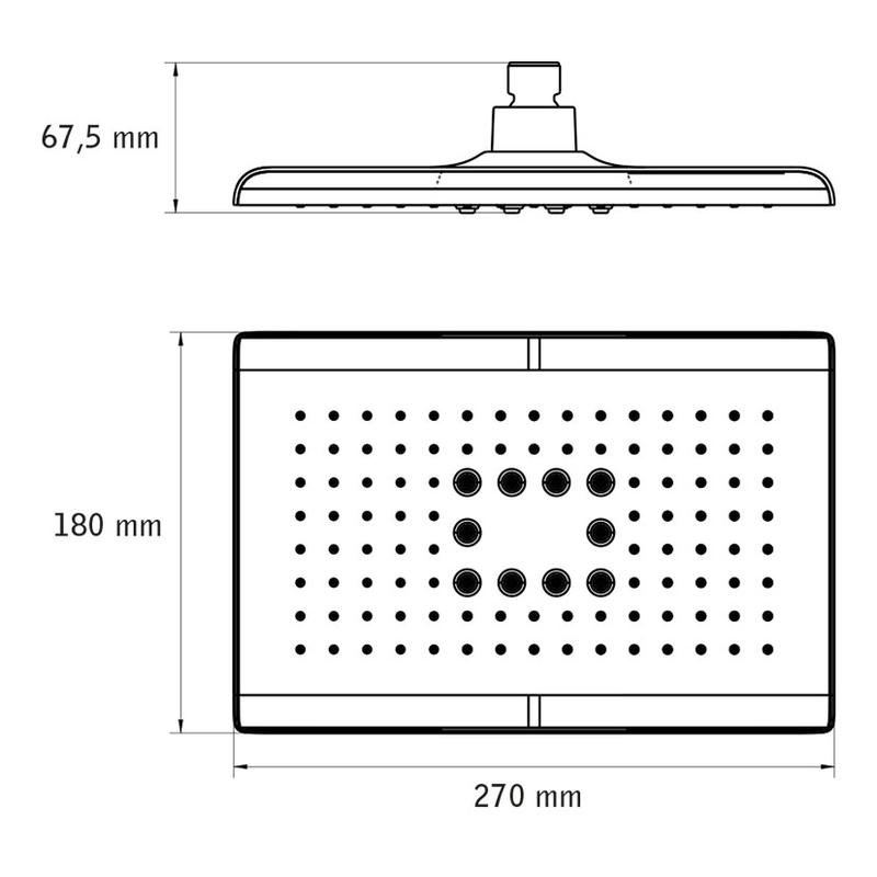 Rociador-difusor para ducha HABITEX Singapur