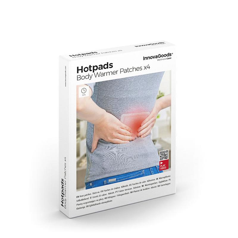 Parches de calor INNOVAGOODS Hotpads, 4 unidades