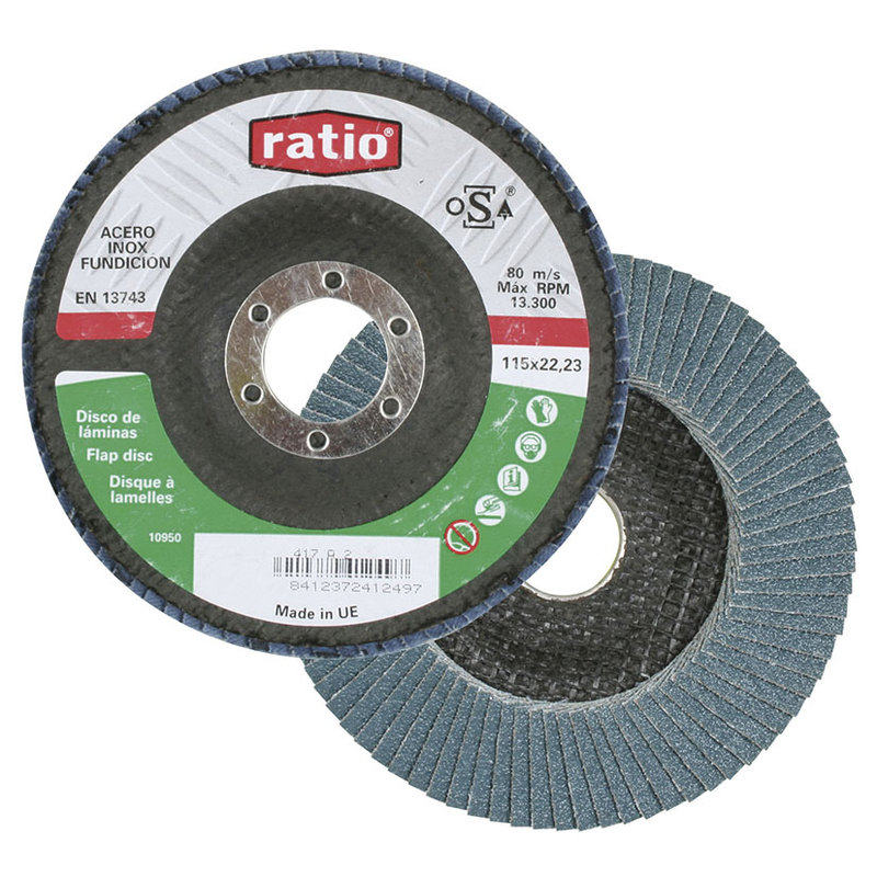 Disco abrasivo de láminas RATIO 178x22 mm. 10 unidades