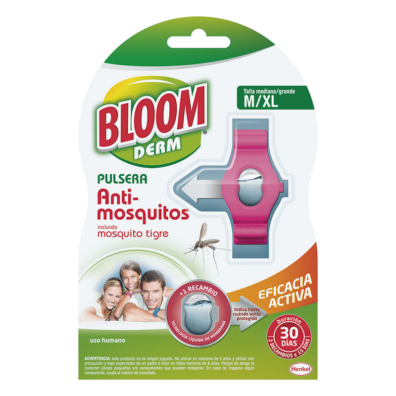 Pulsera antimosquitos BLOOM para adultos