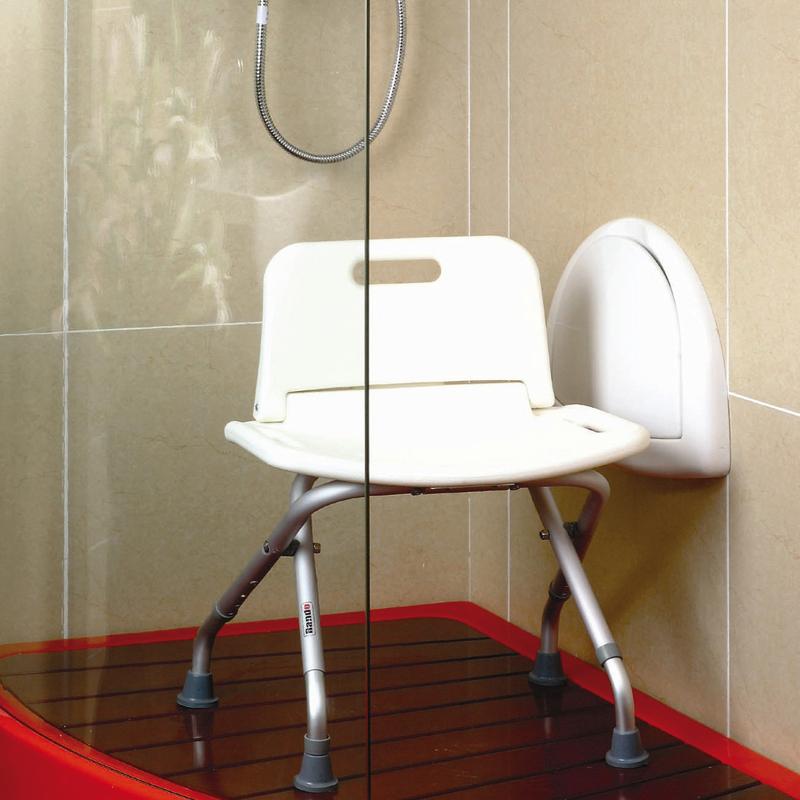 Taburete ducha plegable seguridad baño