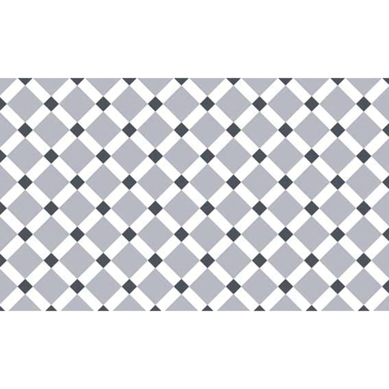 Alfombra vinílica decorativa Croma Gres blanco/gris