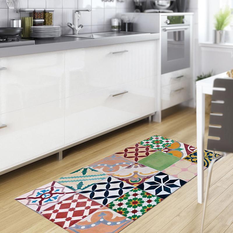 Alfombra vinílica decorativa Croma Gres Mosaico color