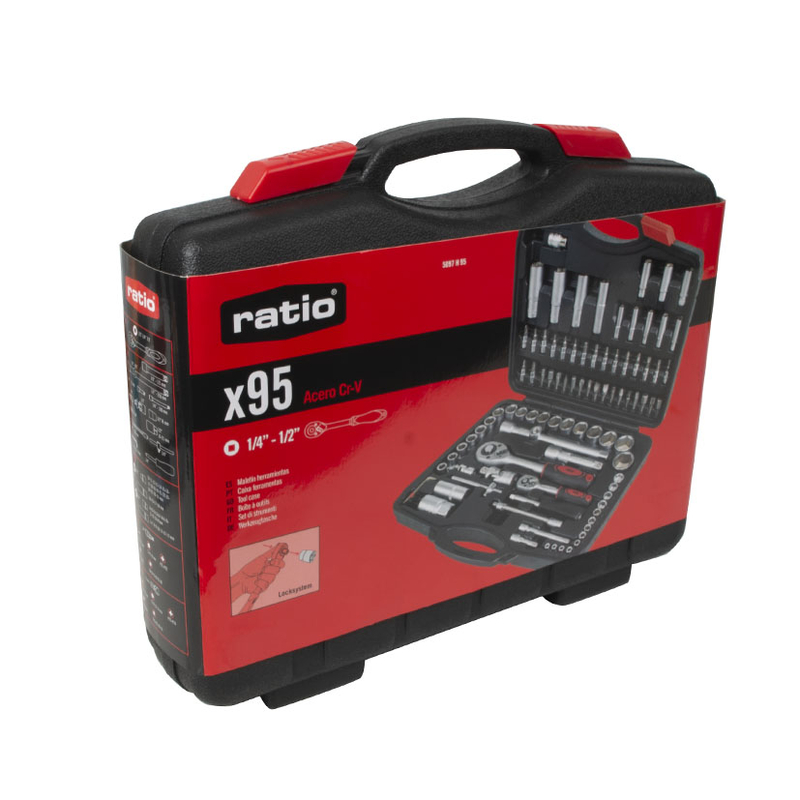 Maletín 95 herramientas RATIO Basic