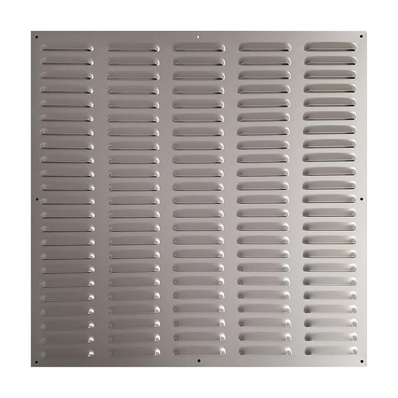 Rejilla ventilación lacado plata