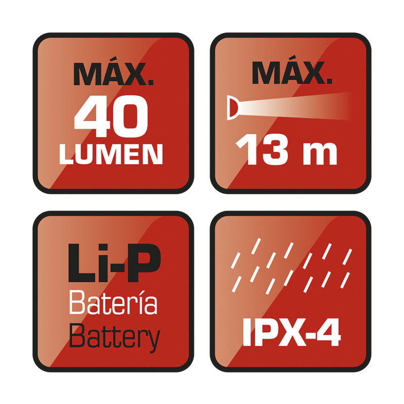 Luz posición LED recargable RATIO Holdlamp 5498