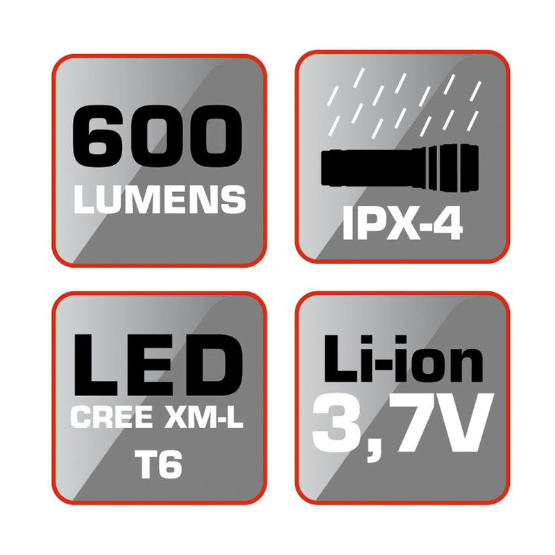 Linterna LED recargable RATIO R600BS