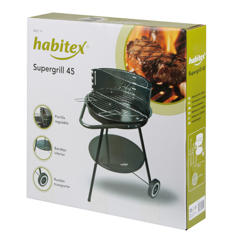 Barbacoa carbón HABITEX Supergrill 45