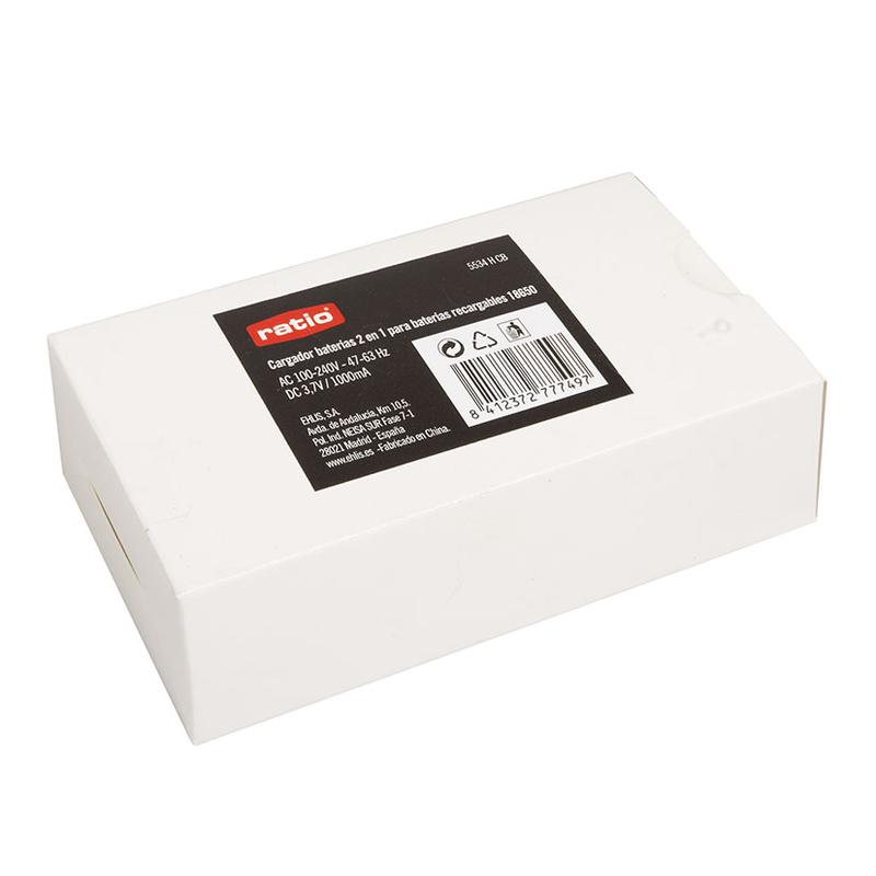 Cargador baterías recargable 2en1 linterna frontal RATIO HeadLamp LFB600