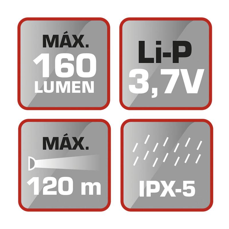 Linterna frontal LED RATIO recargable Headlamp 5536