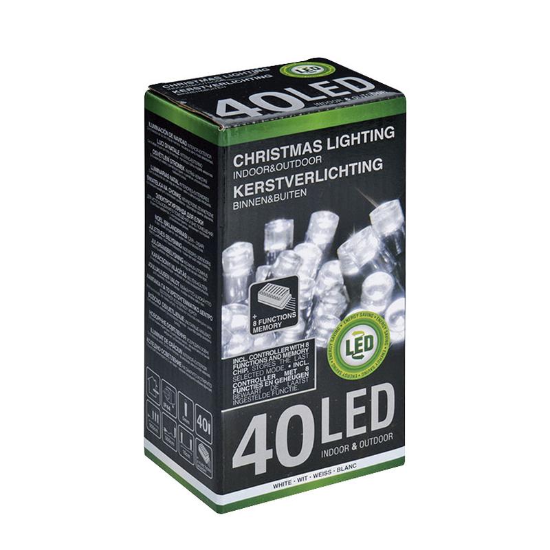 Pack - ILUMINACIÓN ÁRBOL 40 LED EXT. BLANCA