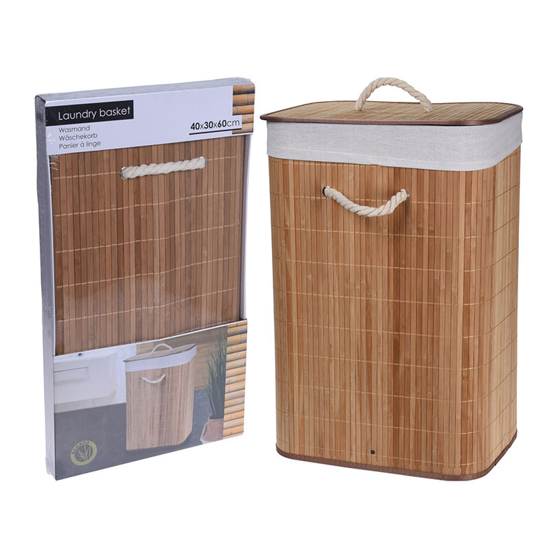 Cesta pongotodo Bambú 40x30xh.60 cm