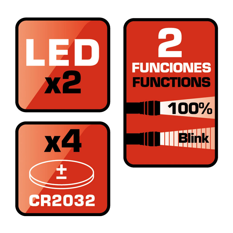 Kit 2 luces posición LED BikeLight 5572