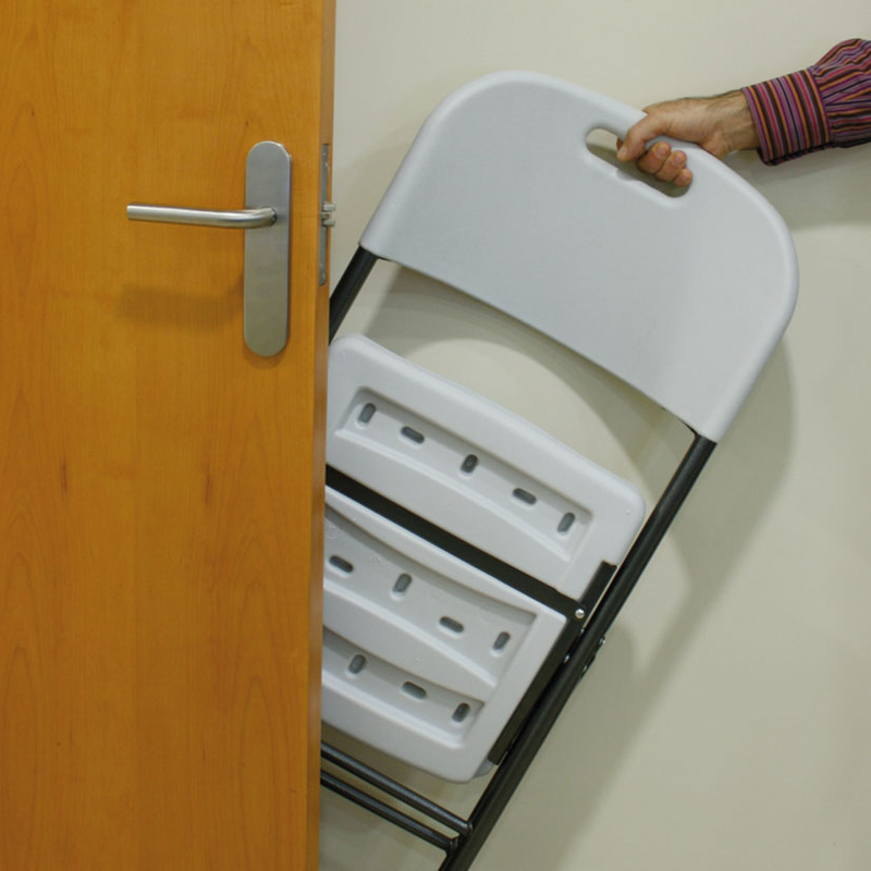 4 unidades de silla plegable de polietileno