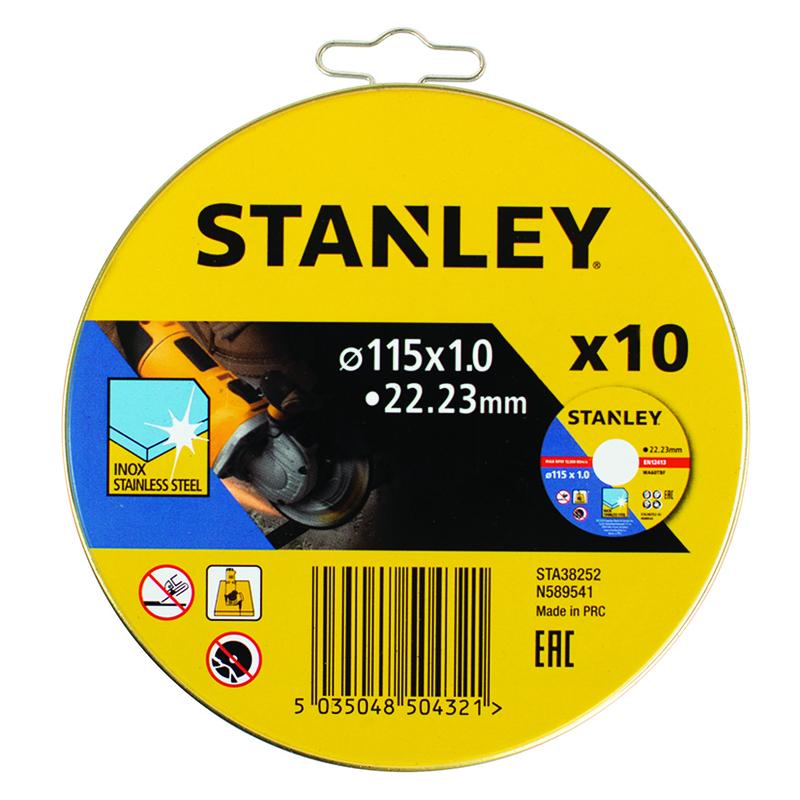 Discos corte STANLEY metal. 10 unidades