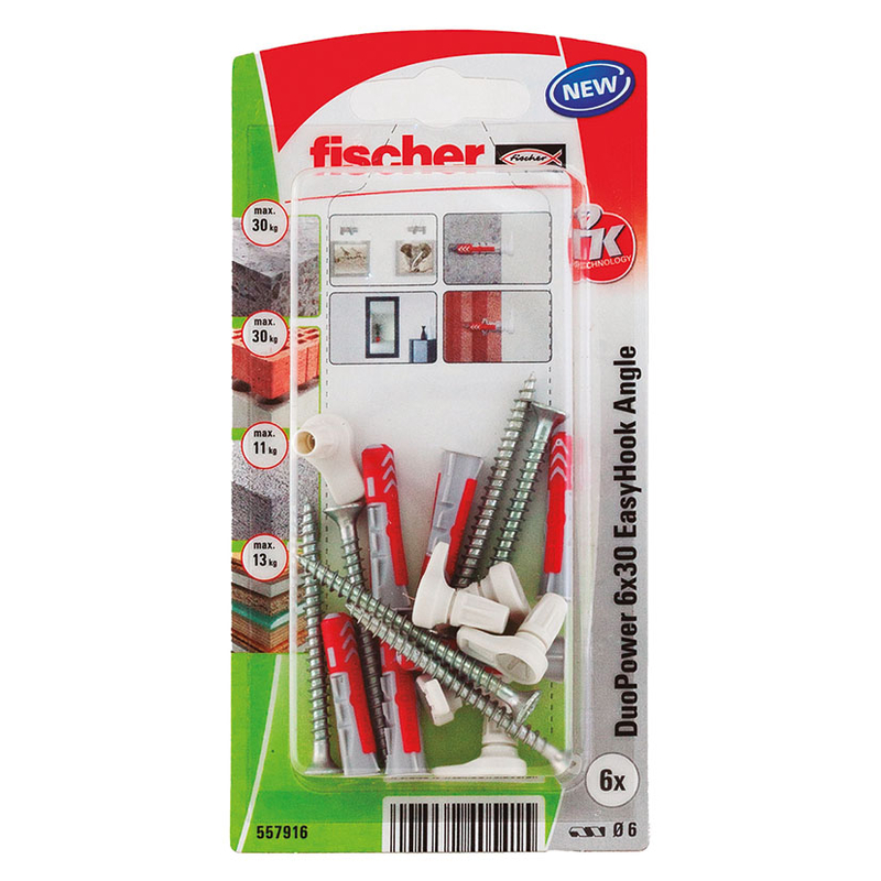 Alcayata con taco FISHER Duopower Easyhook