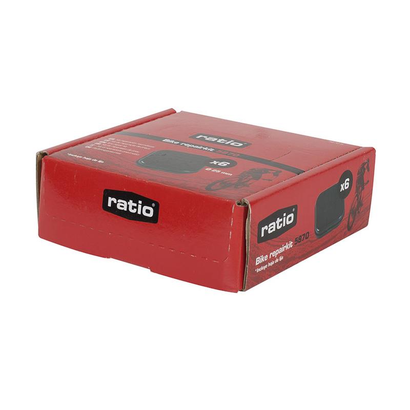 Kit de pinchazos RATIO Bike repair 5870. 10 unidades