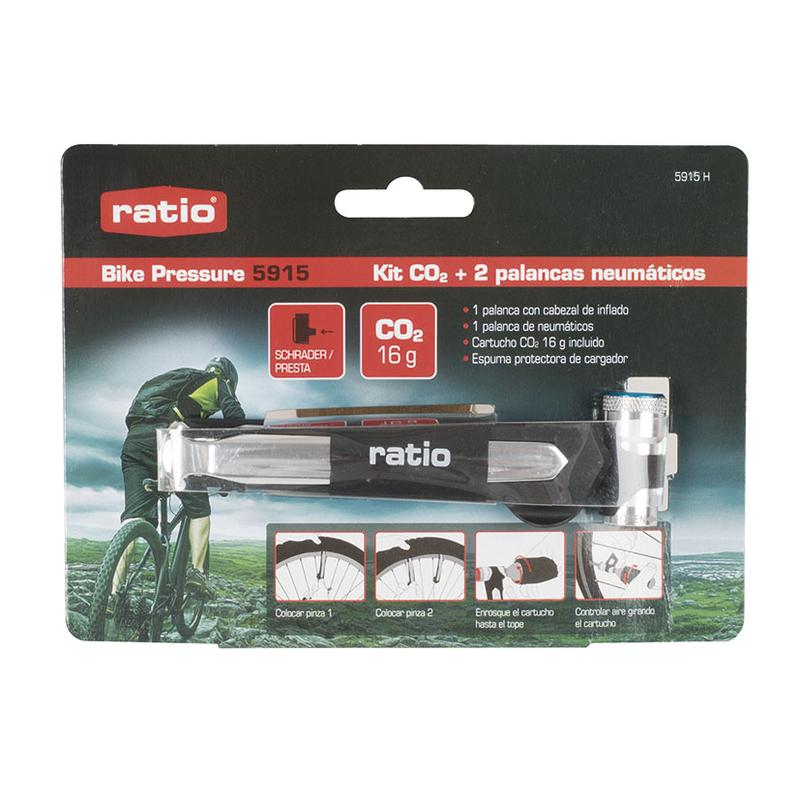 Kit de inflado CO2+ 2 palancas RATIO Bike Pressure 5915