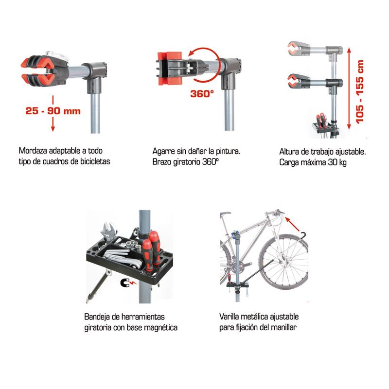 Soporte RATIO para mantenimiento de bicicletas