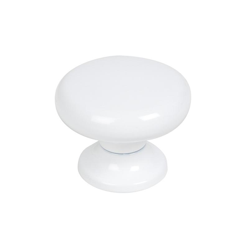 Pomo ESTAMP blanco 30 mm