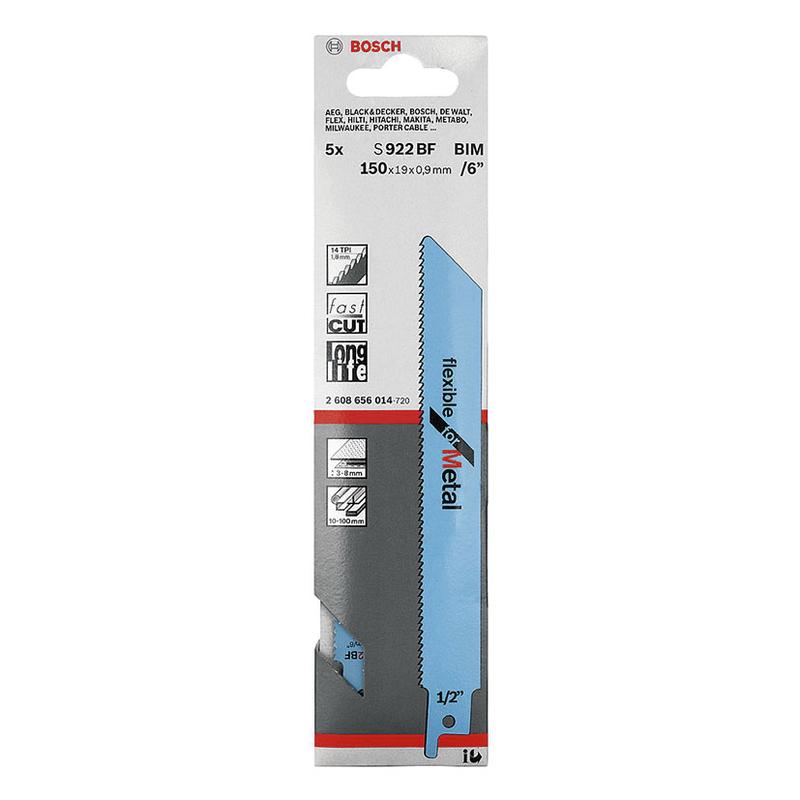 Set 2 sierras sable metal BOSCH S922BF corte chapa gruesa