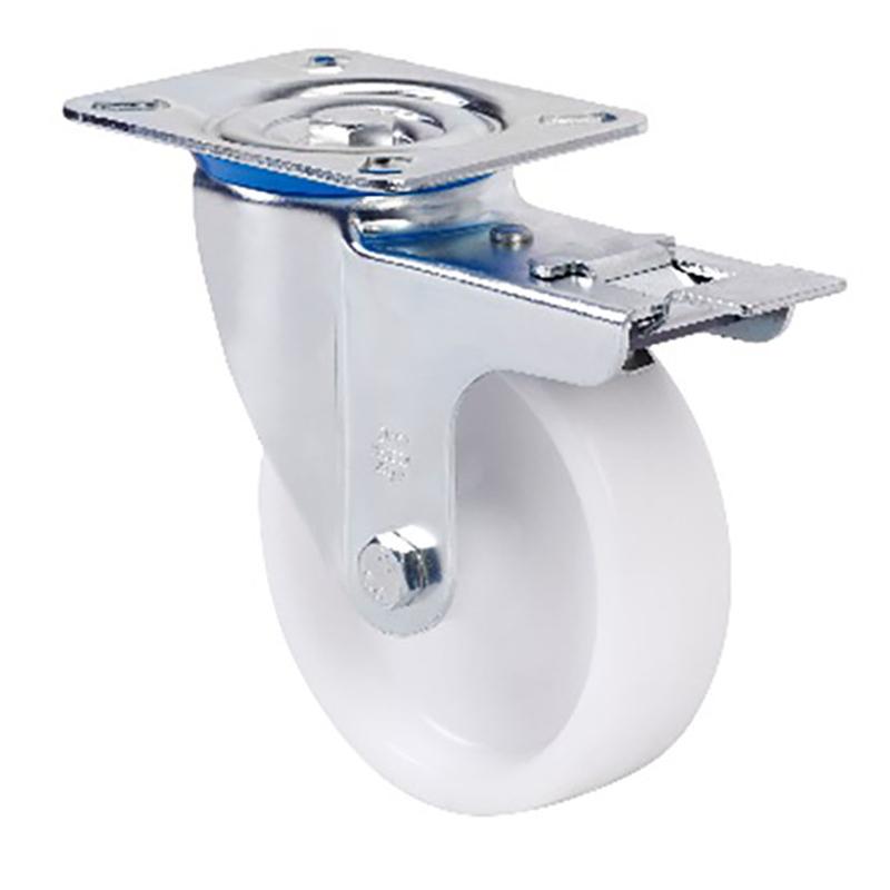 Rueda semi-industrial ALEX serie ZV-UT pletina giratoria Con freno