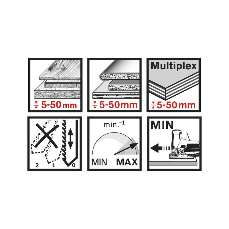 Set 3 sierras de calar madera/plástico RATIO RT308BF/308BF corte recto/curvo
