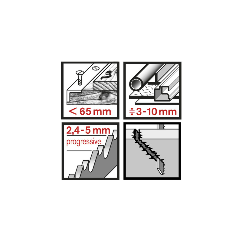 Set 3 sierras de calar RATIO RT345SXF Universal corte basto