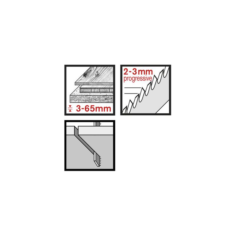 Set 3 sierras calar madera RATIO RT234D corte limpio/recto