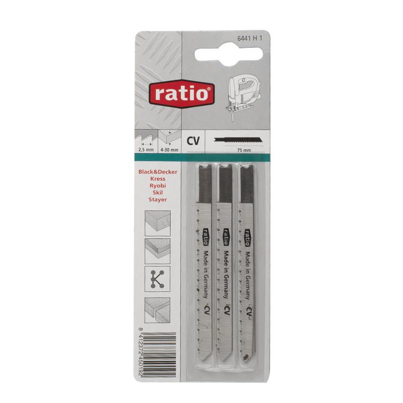 Set 3 sierras calar madera RATIO Proseries corte limpio/recto