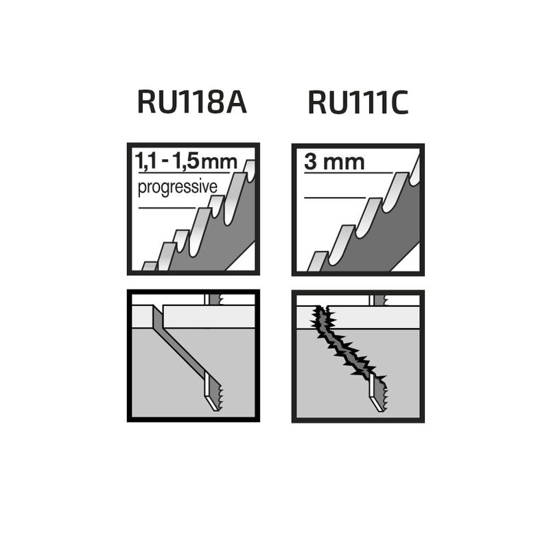 Juego 5 sierras calar madera RATIO Proseries corte básico/recto