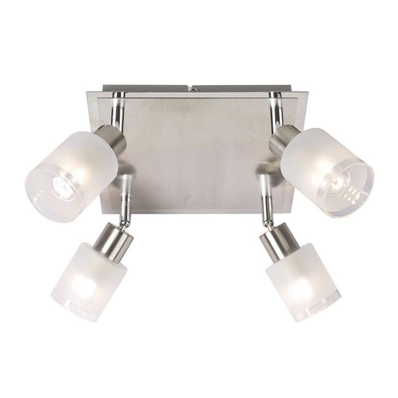 Aplique LED serie Praga DUOLEC 4x3W E14 3000K cuadrado